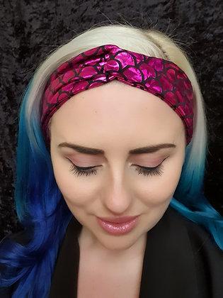 Pink Mermaid Elasticated Head Band