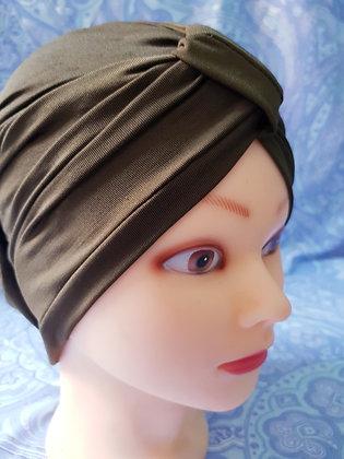 Brown Khaki Chemo Cap Turban