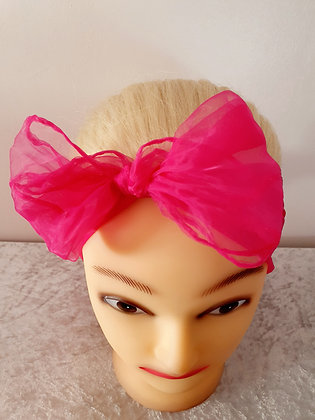Dark Pink Chiffon Head Scarf