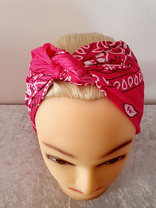 Pink Paisley Head Scarf