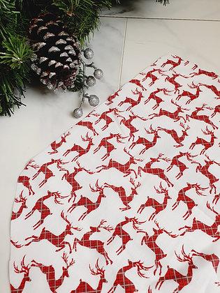 Tartan Reindeer Personalised Luxury Christmas Stocking