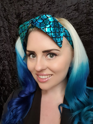 Blue Mermaid Wired Hair Tie