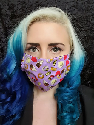 Purple Sweets Face Mask