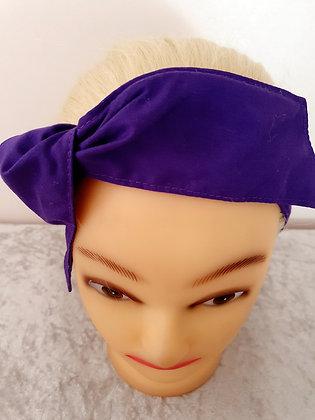 Dark Purple Wired Hair Tie