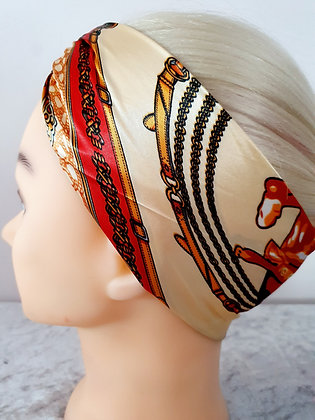 Red Rodeo Silk Head Scarf