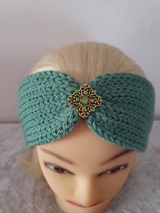 Sage Knitted Head Band