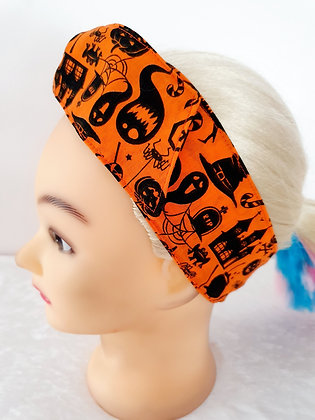 Nightmare on Orange Wired Hair Tie
