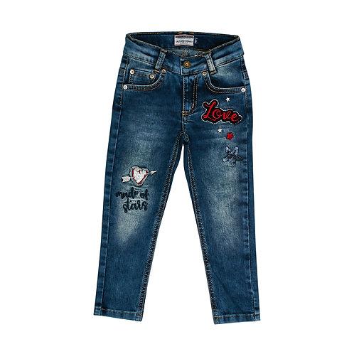 Jeans Sparkle uni Pailletten