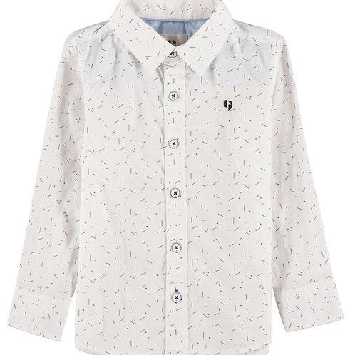 Weißes Oberhemd mit Print