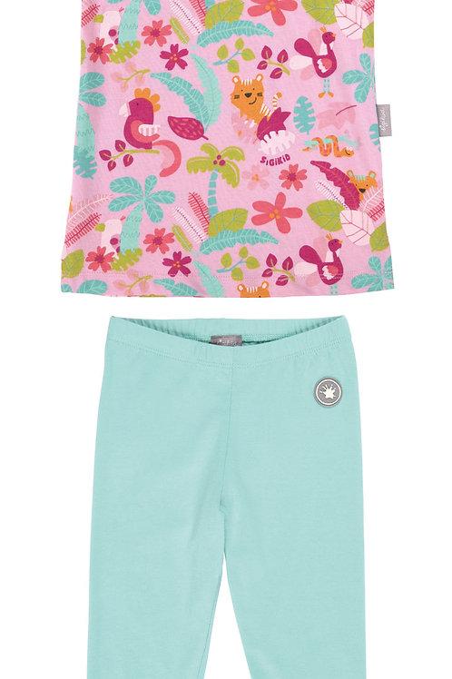 Sommer Mädchen Schlafanzug Dschungel