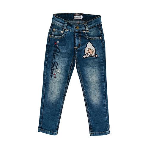 Blue Jeans Badges Girls