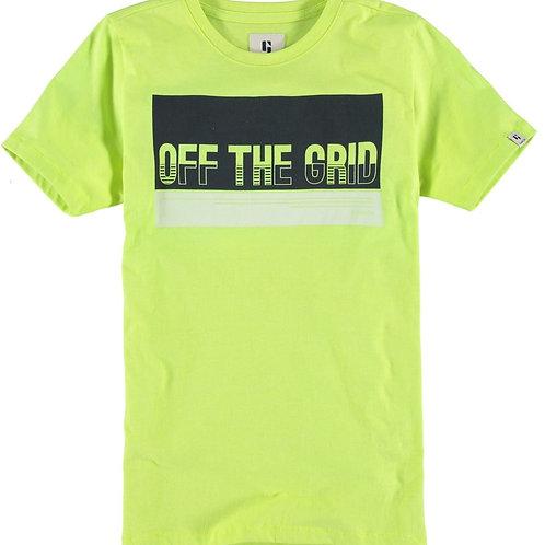 Neongrünes T-Shirt mit Aufdruck
