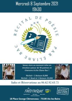 Pub Récital de Poésie Septembre 2021
