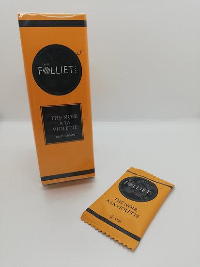 Thé Noir à la Violette - boîte 24 sachets -