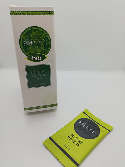 Thé Vert Menthe Bio - boîte 24 sachets -