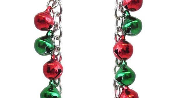 Christmas Multi Drop Jingle Bells Christmas Earrings