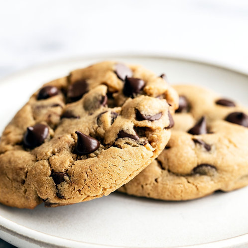 One Dozen Peanut Butter Chocolate Chip Cookies