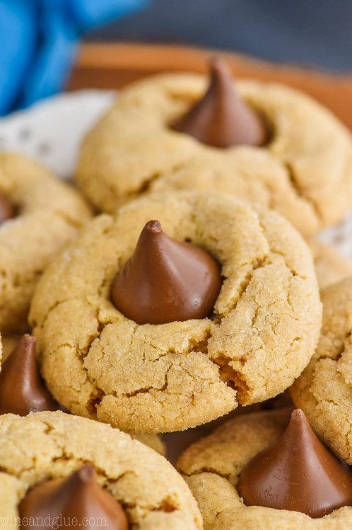 One Dozen Peanut Butter Blossom Cookies