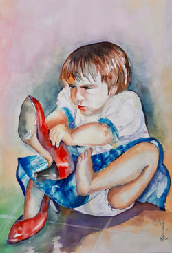 Mum's Red Shoes