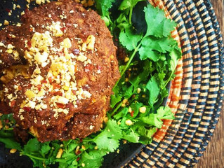 Recipe: Whole Roasted Cauliflower with Spiced Peanut Butter