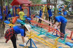 Refurbishing playground