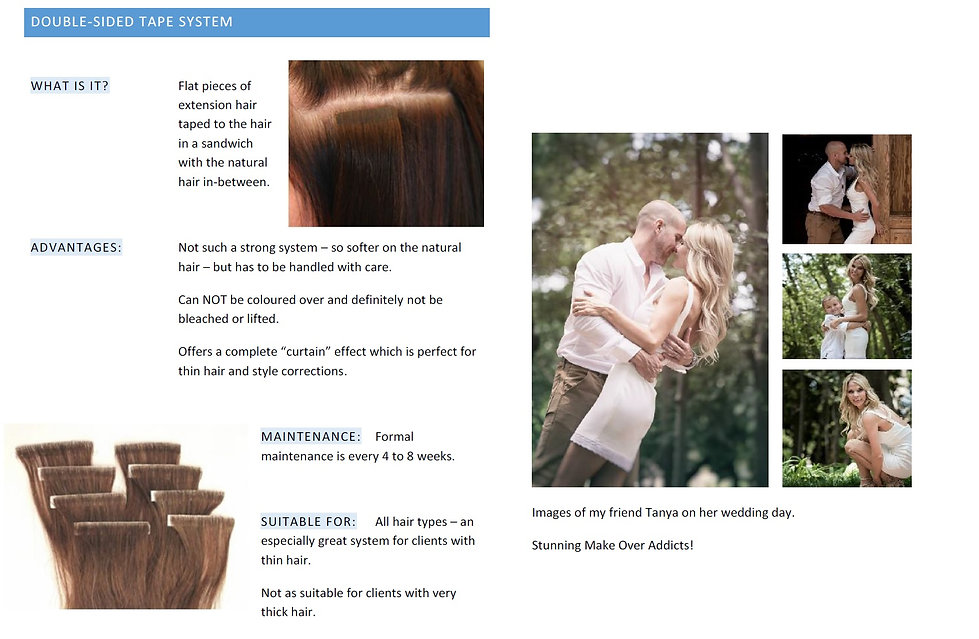 Tape In Human Hairextensions information