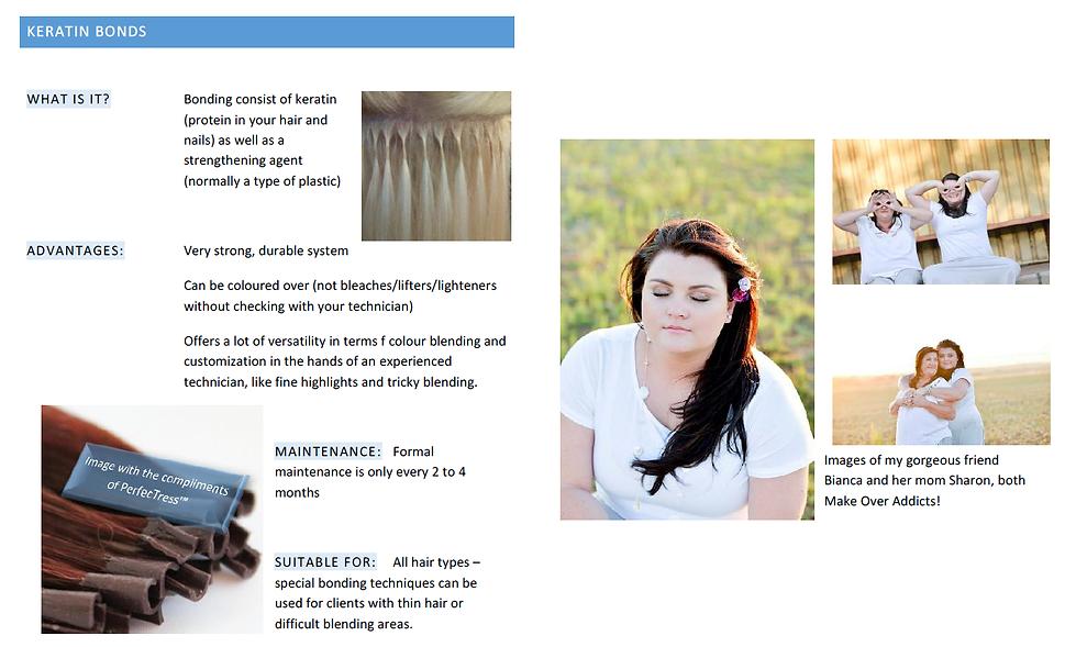 Keratin bonds human hairexten installation system information