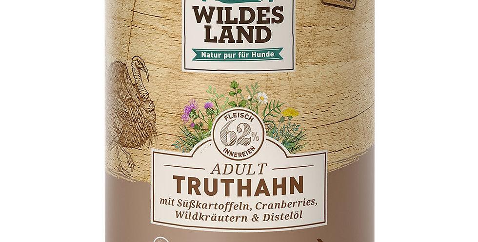 Truthahn mit Süßkartoffel, Cranberries, Wildkräutern und Distelöl
