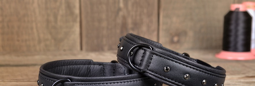 Lederhalsband Black