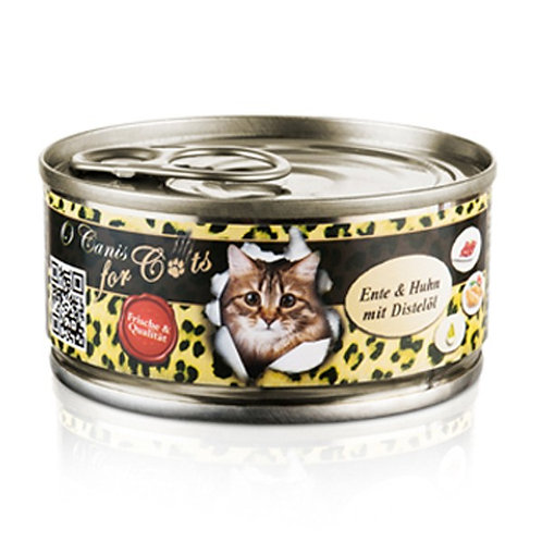 """""""O´CANIS FOR CATS  ENTE, HUHN UND DISTELÖL, 100g"""""""