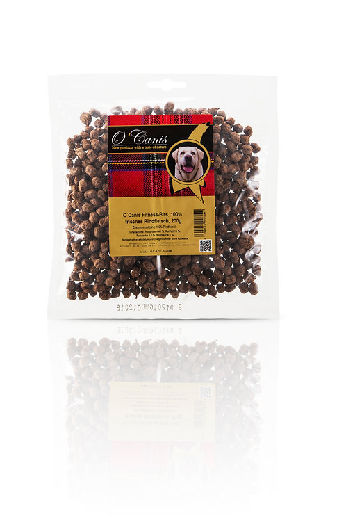 O´Canis Fitness-Bits, 100% frisches Rindfleisch,           200g