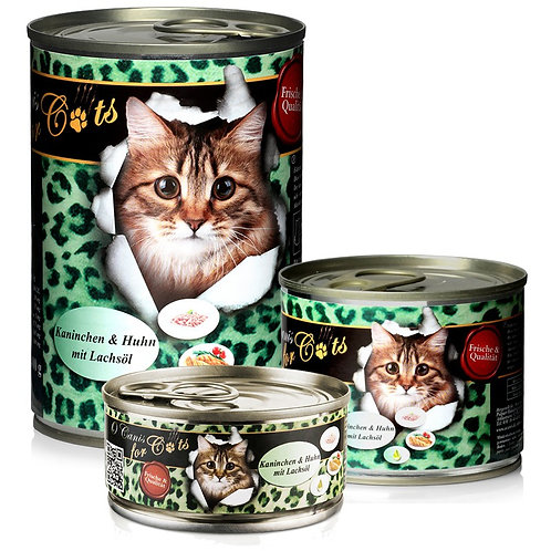 """O´CANIS FOR CATS  HUHN, LACHS UND DISTELÖL, 400g"""