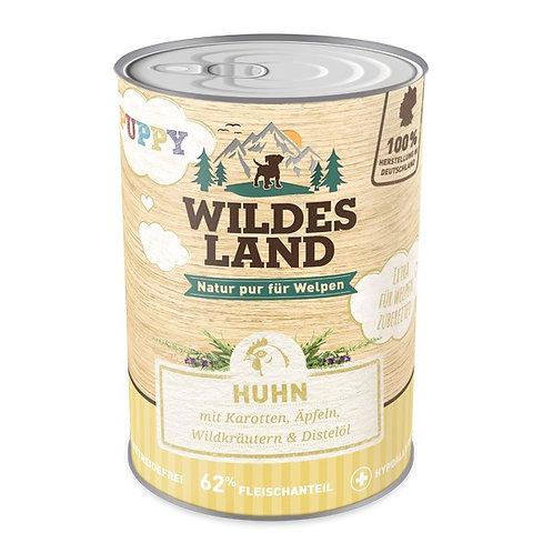 Wildes Land Puppy Huhn mit Karotte 400g