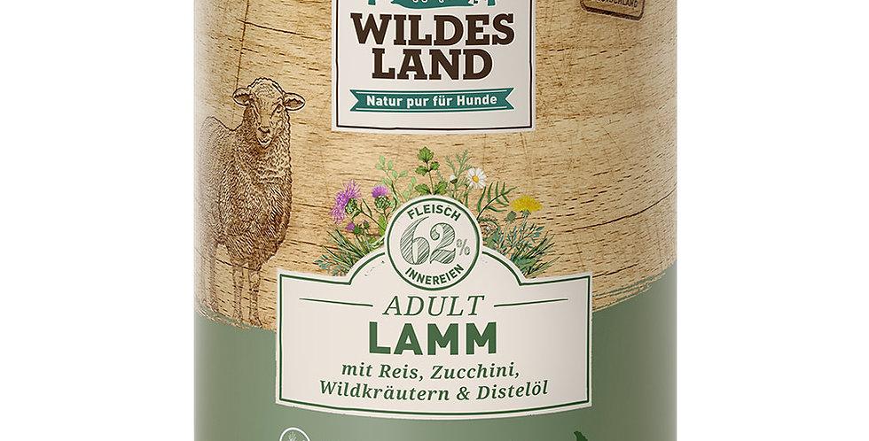 Lamm mit Reis, Zucchini, Wildkräutern und Distelöl
