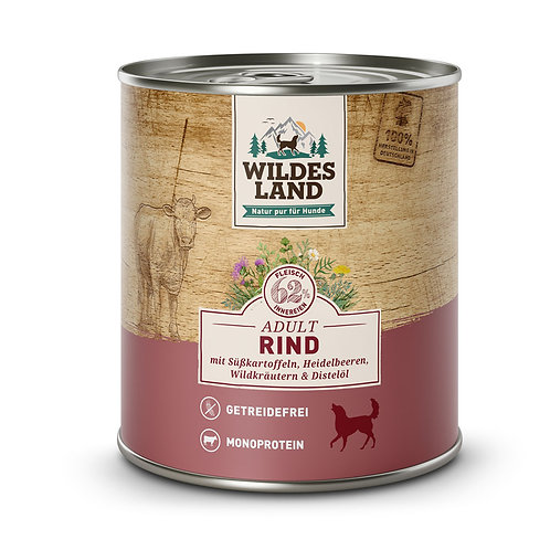 Wildes Land Rind Adult 400g od 800g