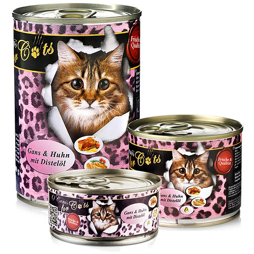 """O´CANIS FOR CATS GANS, HUHN; UND DISTEÖL, 100g"""