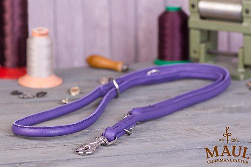 Lederleine Rundgenäht violett 2m Länge verstellbar