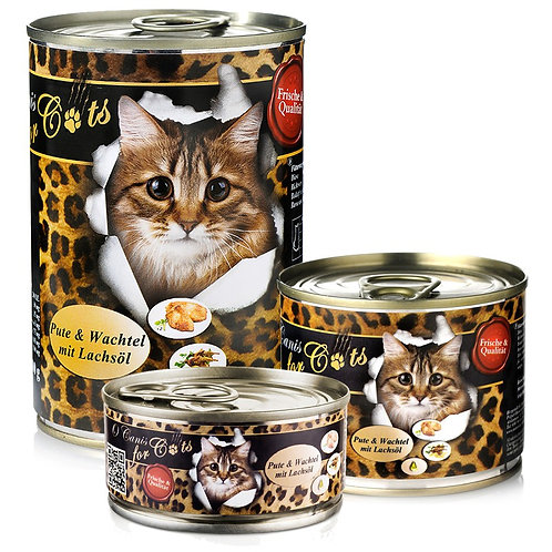 """""""O´CANIS FOR CATS PUTE, WACHTEL UND LACHSÖL, 200g"""""""