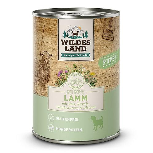 Wildes Land  Puppy Lamm mit Reis 400g