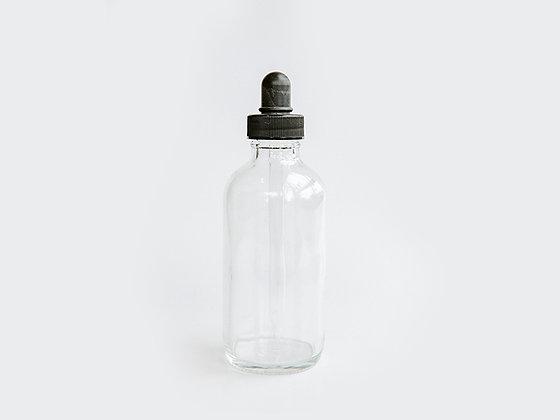 Clear Glass Bottle w/Dropper - 4 ounce