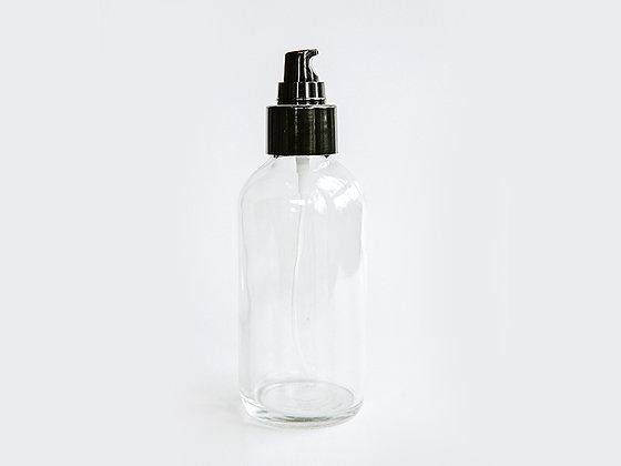 Clear Glass Bottle w/Treatment Pump - 4 ounce
