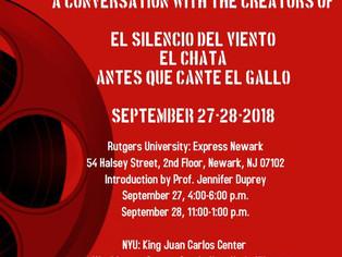 Studio Creativo participará en New York en un conversatorio sobre en nuevo cine puertorriqueño.