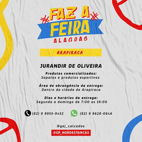 Faz a Feira Alagoas | Lista de Feirantes de Arapiraca