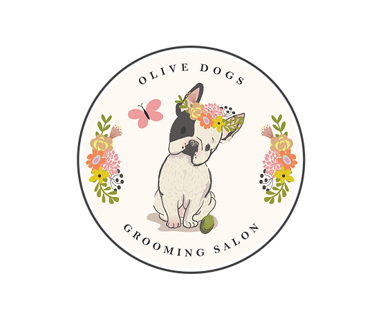Olive Dogs Grooming Salon Logo
