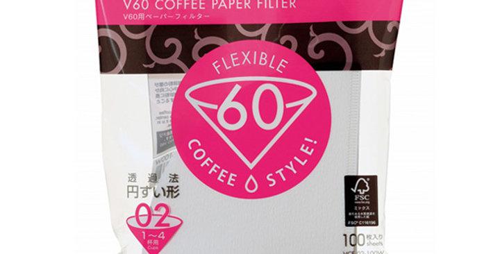 V60 Paper Filter 02 W 100 sheets