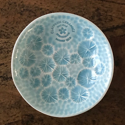 Light Blue Floral Dish