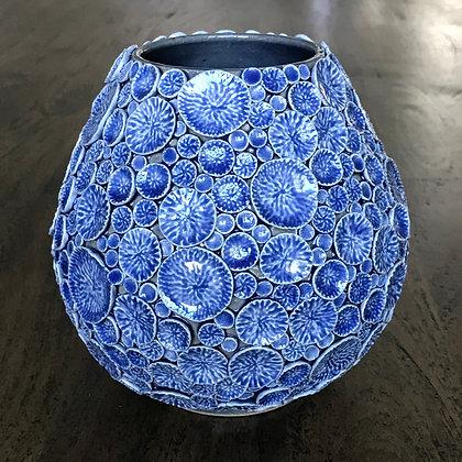 Sapphire Floral Sprig Vase