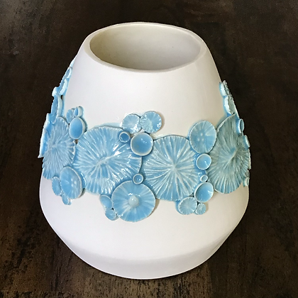 Light Blue Ocean Floor Sprig Vase