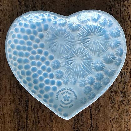 Baby Blue Ocean Floor Heart-Shaped Dish