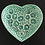 Thumbnail: Green Floral Heart-Shaped Dish